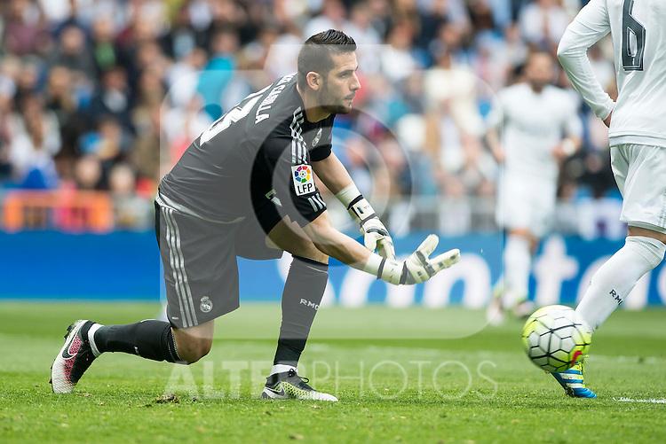 Real Madrid's Kiko Casilla during La Liga match. April 09, 2016. (ALTERPHOTOS/Borja B.Hojas)