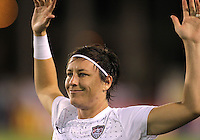 BOCA RATON, FL - DECEMBER 15, 2012: Abby Wambach (14) of the USA WNT during an international friendly match at against China FAU Stadium, in Boca Raton, Florida, on Saturday, December 15, 2012. USA won 4-1.