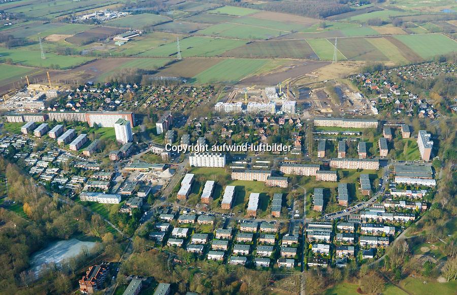 Lohbrügge Nord: EUROPA, DEUTSCHLAND, HAMBURG, (EUROPE, GERMANY), 18.02.2018: Lohbrügge Nord, Weiterentwicklung über den Reinbeker Redder hinaus,