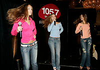 August 22 2005, Montreal (Qc) Canada <br /> Brazilian girl group T-RIO perform their hit Choopeta during a promo tour in Montreal, Canada<br /> Photo : (c) 2005 Pierre Roussel / Images Distribution<br />  - PHOTO D'ARCHIVE :  Agence Quebec Presse