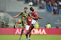 Amadou Diawara of Roma and Giovanni Simeone of Cagliari.<br /> Roma 06-10-2019 Stadio Olimpico <br /> Football Serie A 2019/2020 <br /> AS Roma - Cagliari <br /> Foto Antonietta Baldassarre / Insidefoto