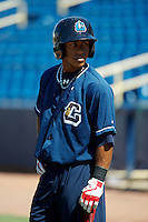 Lake County Captains Francisco Lindor #12 during practice before a game against the Fort Wayne TinCaps at Classic Park on July 2, 2012 in Eastlake, Ohio.  Fort Wayne defeated Lake County 5-4.  (Mike Janes/Four Seam Images)