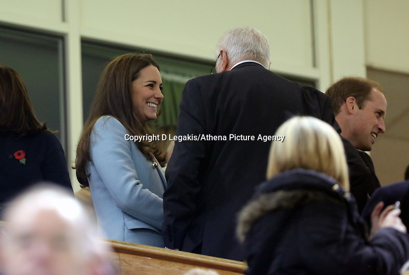 Pictured: Kate Middleton on the stand. Saturday 08 November 2014<br /> Re: Dove Men Series rugby, Wales v Australia at the Millennium Stadium, Cardiff, south Wales, UK.