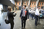 © Joel Goodman - 07973 332324 . 05/05/2017 . Manchester , UK . ANDY BURNHAM arrives at the count . The count for council and Metro Mayor elections in Greater Manchester at the Manchester Central Convention Centre . Photo credit : Joel Goodman