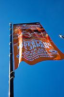The Netherlands, Den Bosch, 16.04.2014. Fed Cup Netherlands-Japan, flags<br /> Photo:Tennisimages/Henk Koster