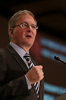 Montreal, CANADA - Feb 2, - Alan Shepard, President & Vice-Chancellor of Concordia University, delivers a speech to the Canadian Club of Montreal, February 2, 2015.
