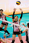 Setter Miya Sato of Japan sets during the FIVB Volleyball World Grand Prix match between China vs Japan on July 21, 2017 in Hong Kong, China. Photo by Marcio Rodrigo Machado / Power Sport Images