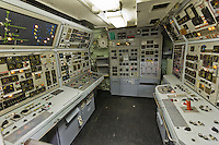 France, Manche (50), Cotentin, Cherbourg, Cité de la Mer, le plus grand sous-marin nucléaire visitable au monde: Le Redoutable - Salle radio //: France, Manche, Cotentin, Cherbourg, museum Cite de la Mer (city of the sea), old nuclear submarine Le Redoutable