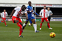 Francis Zoko of Stevenage shoots wide<br />  - Peterborough United v Stevenage - Sky Bet League One - London Road, Peterborough - 23rd November 2013. <br /> © Kevin Coleman 2013