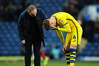 Joe Rodon of Swansea City looks dejected art full time during the Sky Bet Championship match between Blackburn Rovers and Swansea City at Ewood Park on in Blackburn, England, UK. Saturday 29 February 2020