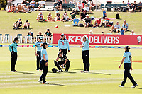 during the 1st ODI women's cricket international between New Zealand White Ferns and England at Hagley Oval in Christchurch, New Zealand on Tuesday, 23 February 2021. Photo: Martin Hunter / lintottphoto.co.nz