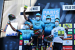 Astana-Premier Tech wins the Team classification of Paris-Nice 2021 at the end of Stage 8 running 92.7km from Le Plan-du-Var to Levens, France. 14th March 2021.<br /> Picture: ASO/Fabien Boukla | Cyclefile<br /> <br /> All photos usage must carry mandatory copyright credit (© Cyclefile | ASO/Fabien Boukla)
