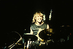 IRON MAIDEN Nicko McBrain performing live  at Irvine Meadows, Ca May 2 1987 Iron Maiden