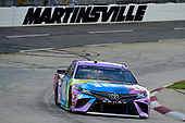 MARTINSVILLE, VIRGINIA - JUNE 10: Kyle Busch, driver of the #18 M&M's Fudge Brownie Toyota, drives during the NASCAR Cup Series Blue-Emu Maximum Pain Relief 500 at Martinsville Speedway on June 10, 2020 in Martinsville, Virginia. (Photo by Jared C. Tilton/Getty Images)