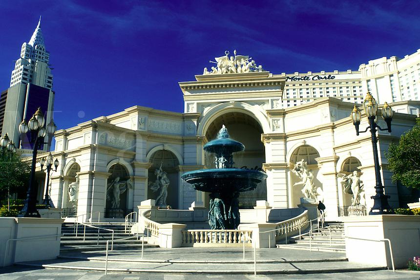 casino, hotel, Las Vegas, Nevada, NV, The Strip, Monte Carlo Resort & Casino in Las Vegas, the Entertainment Capital of the World.