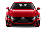 Car photography straight front view of a 2021 Volkswagen Arteon-SB R-Line 5 Door Wagon Front View