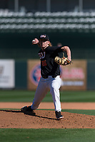 Oregon State Beavers starting pitcher Bryce Fehmel (26) delivers a pitch during a game against the Gonzaga Bulldogs on February 16, 2019 at Surprise Stadium in Surprise, Arizona. Oregon State defeated Gonzaga 9-3. (Zachary Lucy/Four Seam Images)