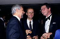 File Photo (circa 1985) of Pierre-Marc Johnson (L) and  Andre Desmarais (R), son of Paul Desmarais.<br /> <br /> Paul Desmarais passed away October 10, 2013. He was 86 years old
