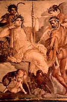 Roman Art:  Fresco--Hercules and Telefo.  National Museum, Naples.  Photo '83.
