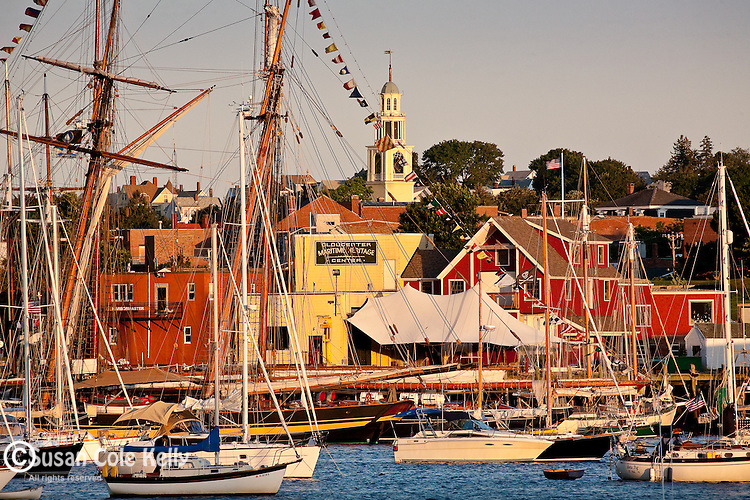 Schooners in Gloucester Harbor, Gloucester, Cape Ann, MA, USA