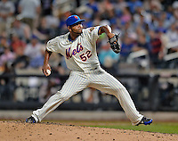 24 July 2012: New York Mets pitcher Ramon Ramirez on the mound in relief against the Washington Nationals at Citi Field in Flushing, NY. The Nationals defeated the Mets 5-2 to take the second game of their 3-game series. Mandatory Credit: Ed Wolfstein Photo