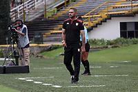 BOGOTÁ COLOMBIA, 21-08-2021: La Equidad y Santa Fe en partido por la fecha 9 como parte de la Liga Femenina BetPlay DIMAYOR 2020 jugado en el estadio Metropolitano de Techo de  Bogotá / Equidad and Santa Fe in match for the date 9 as part of Women's BetPlay DIMAYOR 2021 League, played at Metropolitano de Techo stadium in Bogota. Photo: VizzorImage / Felipe Caicedo / Staff