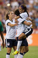 Abby Wambach, Sydney Leroux, Lauren Holiday. The USWNT defeated Mexico, 7-0, during an international friendly at RFK Stadium in Washington, DC.  The USWNT defeated Mexico, 7-0.