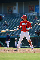 Peyton Stovall (2) bats during the Baseball Factory All-Star Classic at Dr. Pepper Ballpark on October 4, 2020 in Frisco, Texas.  Peyton Stovall (2), a resident of Haughton, Louisiana, attends Haughton High School.  (Mike Augustin/Four Seam Images)