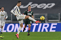 Cristiano Ronaldo of Juventus FC in action during the Serie A football match between Juventus FC and FC Crotone at Allianz stadium in Torino (Italy), February 22th, 2021. Photo Giuliano Marchisciano / Insidefoto