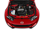 Car Stock 2019 Mazda MX-5 Selection 2 Door Targa Engine  high angle detail view