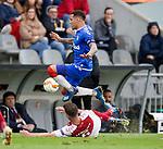 26.02.2020 SC Braga v Rangers: James Tavernier and Nuno Sequeira