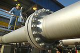 Gasoducto internacional Bolivia- Brasil en Rio Grande, Bolivia..