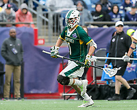Foxborough, Massachusetts - May 27, 2018: NCAA Division II tournament final. Merrimack College (white/blue) defeated Saint Leo University (green/white), 23-6, at Gillette Stadium.