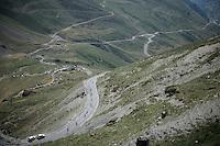 descending the Col du Tourmalet (HC/2115m/17km/7.3%)<br /> <br /> st11: Pau - Cauterets (188km)<br /> 2015 Tour de France