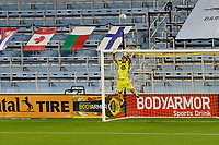 ST PAUL, MN - SEPTEMBER 27: Dayne St. Clair #97 of Minnesota United FC watches the ball go over the net during a game between Real Salt Lake and Minnesota United FC at Allianz Field on September 27, 2020 in St Paul, Minnesota.