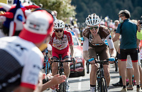 Romain Bardet (FRA/AG2R-LaMondiale) up the Puy Mary (uphill finish)<br /> <br /> Stage 13 from Châtel-Guyon to Pas de Peyrol (Le Puy Mary) (192km)<br /> <br /> 107th Tour de France 2020 (2.UWT)<br /> (the 'postponed edition' held in september)<br /> <br /> ©kramon