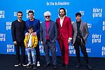 (L-R) Leonardo Sbaraglia, Antonio Banderas,  Asier Flores, Pedro Almodovar, Asier Etxeandia, attend the photocall of the movie 'Dolor y gloria' in Villa Magna Hotel, Madrid 12th March 2019. (ALTERPHOTOS/Alconada)