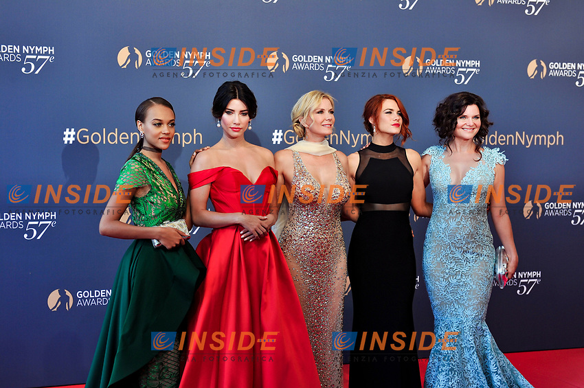 Reign Edwards - Jacqueline MacInnes Wood - Catherine Kelly Lang - Courtney Hope - Heather Tom (The Bold and the Beautiful) Monaco - 20/06/2017<br /> 57 festival TV Monte Carlo <br /> Foto Norbert Scanella / Panoramic / Insidefoto