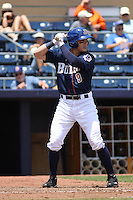 Durham Bulls outfielder Brandon Guyer #9 at bat during a game versus the Louisville Bats at Durham Bulls Athletic Park in Durham, North Carolina on May 18, 2011. Durham defeated Louisville by the score of 7-4.    Robert Gurganus/Four Seam Images