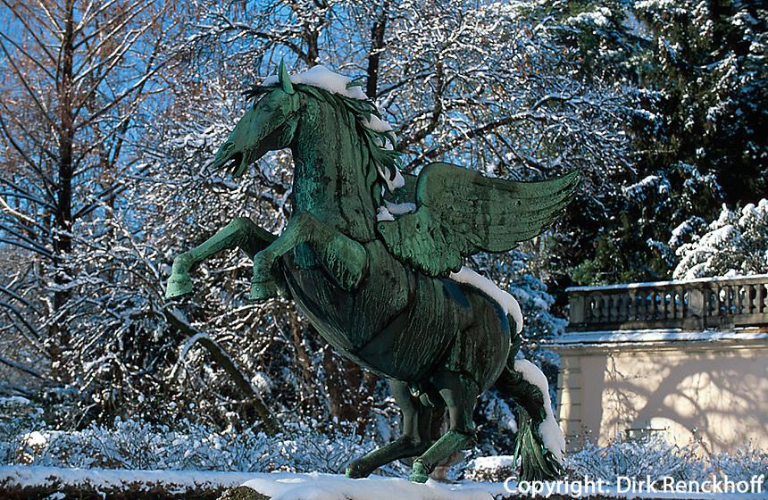 Pegasus-Brunnen im Garten von Schloss Mirabell in  Salzburg, Österreich, Unesco-Weltkulturerbe