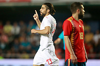 Switzerland's Ricardo Rodriguez celebrates goal during international friendly match. June 3,2018.(ALTERPHOTOS/Acero)