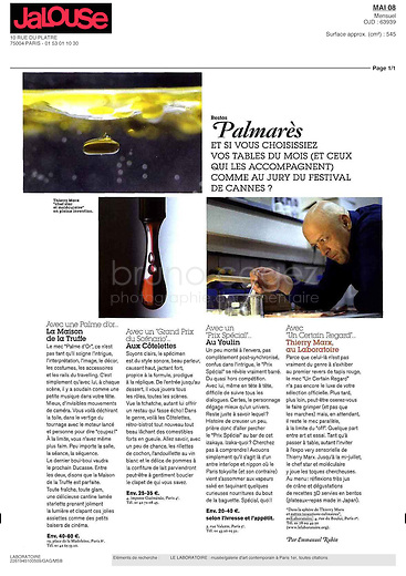 FRANCE, Paris, May 2008..Publication in the monthly magazine Jalouse, May 2008..FRANCE, Paris, Mai 2008..Publication dans le magazine Jalouse de mai 2008..© Bruno Cogez