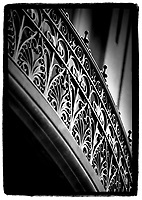 New Orleans railing; architectural detail. New Orleans Louisiana United States.