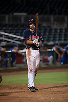 AZL Indians 2 center fielder Jonathan Engelmann (11) at bat during an Arizona League game against the AZL Dodgers at Goodyear Ballpark on July 12, 2018 in Goodyear, Arizona. The AZL Indians 2 defeated the AZL Dodgers 2-1. (Zachary Lucy/Four Seam Images)