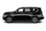 Car Driver side profile view of a 2021 Nissan Armada SL 5 Door SUV Side View