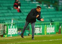 21st April 2021; Celtic Park, Glasgow, Scotland; Scottish Womens Premier League, Celtic versus Rangers; Celtic Women Manager Fran Alonso gives his side encouragement