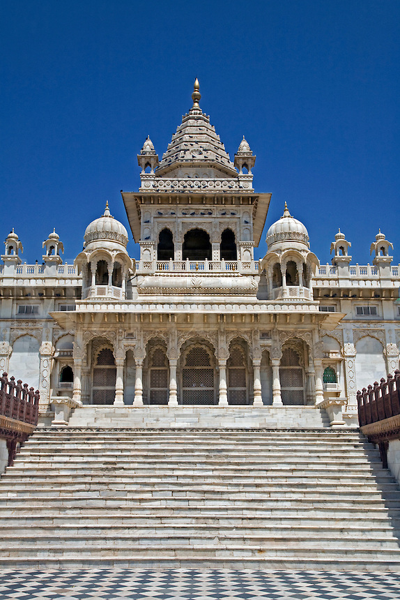 The white marble JASWANT THADA was built in 1899 as a memorial to MAHARAJA JASWANT SINGH ll - JOHDPUR, RAJASTHAN, INDIA