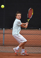 07-08-13, Netherlands, Rotterdam,  TV Victoria, Tennis, NJK 2013, National Junior Tennis Championships 2013, Lars Kuipers   Rik Muller<br /> <br /> <br /> Photo: Henk Koster