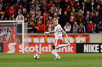 Harrison, NJ - Wednesday Feb. 22, 2017: Justin Bilyeu during a Scotiabank CONCACAF Champions League quarterfinal match between the New York Red Bulls and the Vancouver Whitecaps FC at Red Bull Arena.