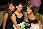 Valerie Chhan, Cindy Yang and Lauren Glynn at the Park Place pool party Saturday night June 20, 2009.(Dave Rossman/For the Chronicle)..all names cq